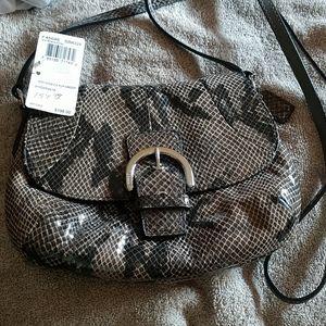 Coach mini embossed python handbag